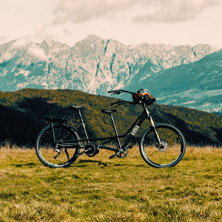 Bicicletta per disabili tandem